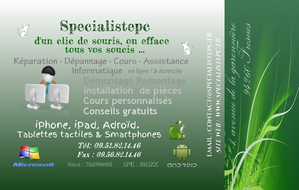 Carte De Visite Specialistepc Recto
